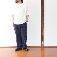 ユニセックス*MASTER&Co*マスターアンドコーLong Chino Pant with Belt ペイント加工オフィサーチノ(ネイビー)
