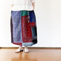 *レディース*SLOWHANDS-スローハンズ-Bandana Vertical PW Gather Skirt/C柄
