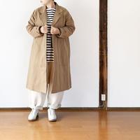 女性着用画 ユニセックス*NAPRON★-プロン-綿麻生地 ATELIER WORK COAT ver3/ベージュ