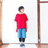 *レディース*SLOW HANDS★スロウハンズ★サイクルリラックスTシャツ/レッド