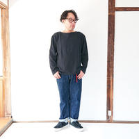 *ユニセックス*Le minor by DAILY WARDROBE INDUSTRY★デイリーワードローブインダストリー★7day's Series バスクシャツ BLACK(FRIDAY)  .