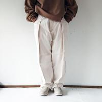 *ユニセックス*KAFIKA-カフィカ-タケヤリ帆布 コクーンワイドパンツ/アイボリー
