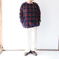 ユニセックス*快晴堂-カイセイドウ-タータンチェックエルボー・Tシャツ(93S-08B)