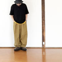 *ユニセックス*SLOWHANDS-スローハンズ- back satin poofy tack pants / パフィータックパンツ