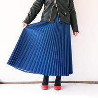 *レディース*Urvin-アーヴィン-デニムスカート プリーツスカート/ブルー(UK138201)
