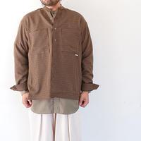 *ユニセックス*amne-アンヌ-Gabardine Covered L/S shirts/ブラウン