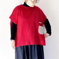 全2色*レディース*快晴堂- Girl`sセーター 前後ろ2wayケープベスト 13K-44