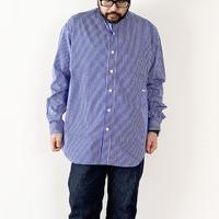 *ユニセックス*amne-アンヌ-stripe B.C L/S  shirts/ブルーストライプ