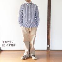 男性着用*MASTER&Co*マスターアンドコーLong Chino Pant with Belt オフィサーチノ(ベージュ)