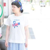 *レディース*clip.tab★クリップタブ★ラフコット天竺レトロプリントTシャツ(3182C-021)