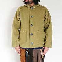ユニセックス*快晴堂-カイセイドウ-カットメルトンカバージャケット(03JK-60B) SIZE5/アーミーグリーン