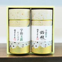 煎茶(釣殿)+玉露ティーバッグ 缶箱入り
