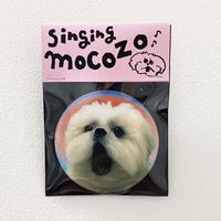 モコゾウレンチキュラーバッジ「singing  mocozo」