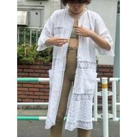 Vintage  Cotton Lace Dress Gown