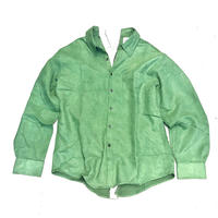REMAKE BACK SNAP SUEDE SHIRTS GREEN