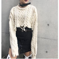 Remake Cut-off Short Sweater