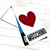 vintage MOSCHINO  Heart  Logo  Muffler