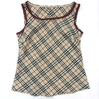 Burberry Check Piping Tanktop