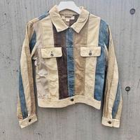 Vintage  Cords Denim Patchwork Jacket