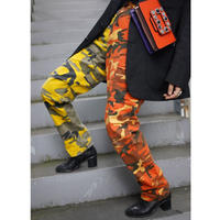 Vintage  Camo Pants Yellow/Orange