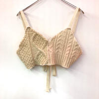 Vintage Cable  Knit Bustier 【A】