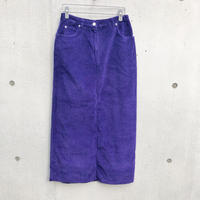 Vintage  Corduroy Long Skirt Purple