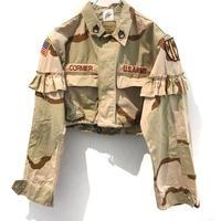 REMAKE Camo Fril Short Shirts【B】