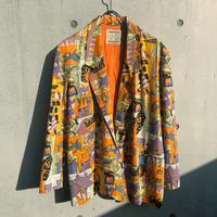 Vintage  African Print Jacket