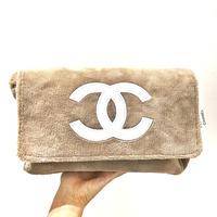 CHANEL NOVERTY PILE SHOULDER BAG /beige