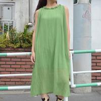 Vintage  Pleats Dress Green