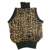 Vintage Leopard See-through Tops