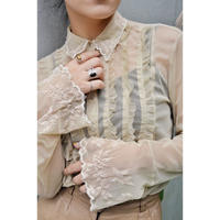 Vintage  Tulle Frill Shirts