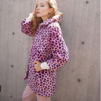 Vintage FAKE FUR PINK LEOPARD COAT