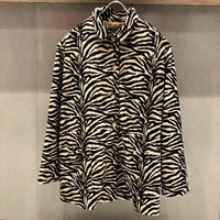 Vintage FAKE FUR ZEBRA COAT