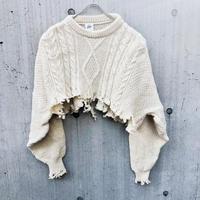 Remake  Cut-off Short Sweater