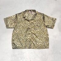 Vintage  Leopard S/S Satin Shirts