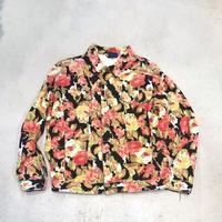 Vintage Flower Print Denim Jacket