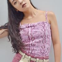 Vintage  Pink Python Camisole
