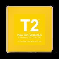 T2 紅茶 New York Breakfast(ニューヨーク・ブレックファスト)ティーバッグ 25個入り