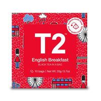 T2 紅茶 English Breakfast(イングリッシュ・ブレックファスト)ティーバッグ 10個入り