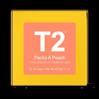 T2 紅茶 Packs A Peach(パックス・ア・ピーチ)ティーバッグ 25個入り