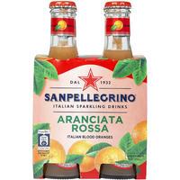 サンペレグリノ アランチャータ・ロッサ 200ml瓶×4本 (93903)