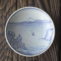 有田焼手描き平盃-銚子盃「銚子の濱」