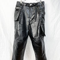 Asymmetrical crop cargo trousers
