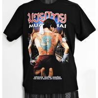 タイフェスで人気のムエタイTシャツ 背中にヤクのタトゥー
