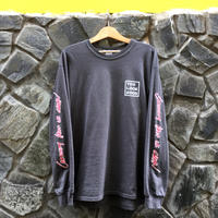 Long Sleeve T-shirt -CURIOSITY KEEP US CLEAN-  Charcoal gray