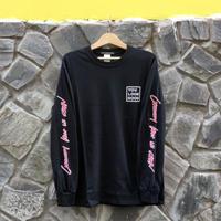 Long Sleeve T-shirt -CURIOSITY KEEP US CLEAN-  Black
