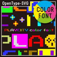 PLAYCITY color font(プレイシティ カラーフォント)