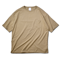 Big Silhouette Pocket Tee  【Sand Khaki】
