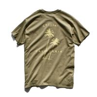 Chillin' california  Tee  【Olive】